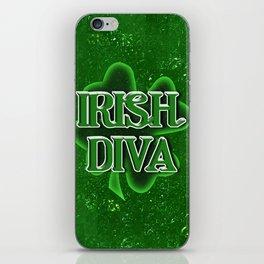 Irish Diva - St Patrick's Day Shamrock iPhone Skin