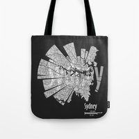 sydney Tote Bags featuring Sydney by Shirt Urbanization