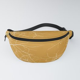 Branches Impressions on Yellow Fanny Pack