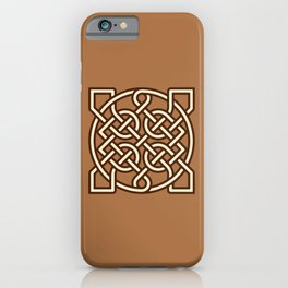 Celtic Sailor's Knot, Camel Tan, Cream and Brown iPhone Case