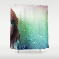 grease Shower Curtains featuring Glitter and grease. by Chiara Lanciotti