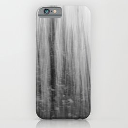 Ghostly forest, black and white iPhone Case