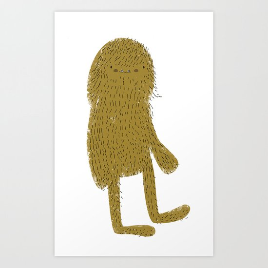 Sasquatch man Art Print