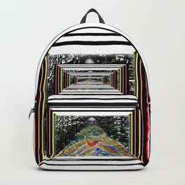 """""""Beez Lee Art : Love Leads Through Square Darkness"""" Backpack"""