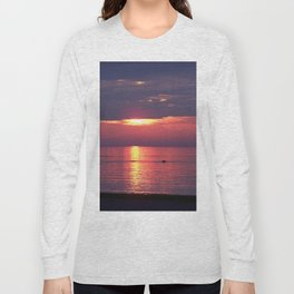 Holes in the Clouds, sunset on the water Long Sleeve T-shirt