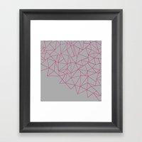 Ab Storm Hot Grey Framed Art Print