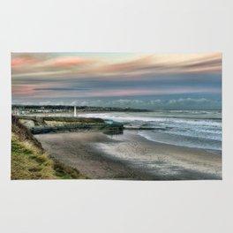 Seaburn lighthouse and coastline Rug