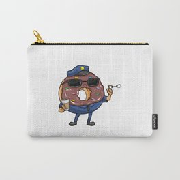Delicious Donat as a police officer with coffee and handcuffs - gift Carry-All Pouch