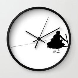 Brazil Indian Fisherman Wall Clock