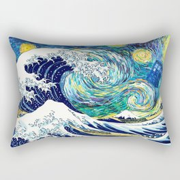 Tardis Starry Wave Night Rectangular Pillow