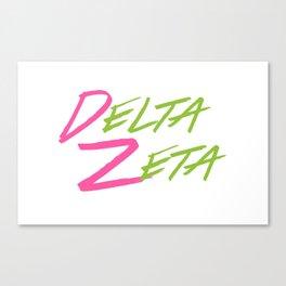 Delta Zeta Canvas Print