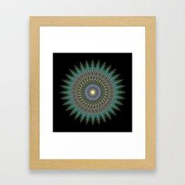 ALAM-E BAYT | 32-POINT MANDALA Framed Art Print