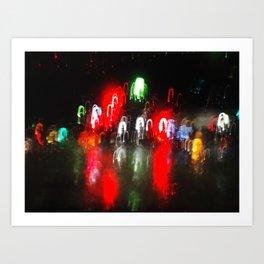 Santa Cruz Rain Art Print