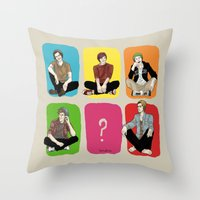 "band Throw Pillows featuring "" Rainbow band "" by Karu Kara"