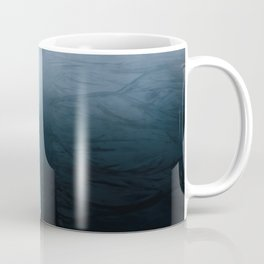 Black sand beach in iceland and blue ocean waves - Landscape Photography Coffee Mug