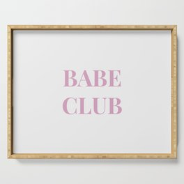 Babeclub white Serving Tray