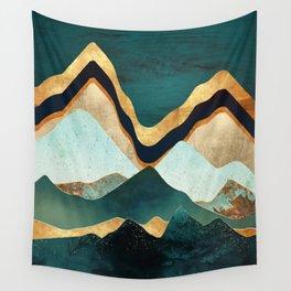 Velvet Copper Mountains Wall Tapestry