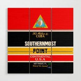 Southern Most Point, Key West, Florida/サザン・モスト・ポイント Wood Wall Art