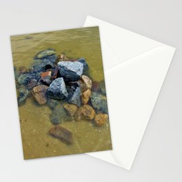 Stones in the Water, Beach Stationery Cards