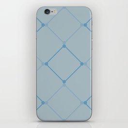 Blue Lattice  iPhone Skin