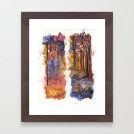 Forest Owls Framed Art Print