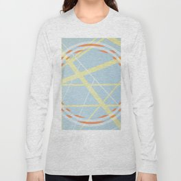 crossroads ll - orangle circle graphic Long Sleeve T-shirt