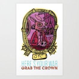 Mementos of the great cartoon war #1 Art Print