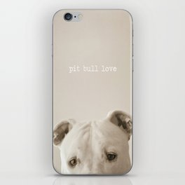 Pit bull love  iPhone Skin