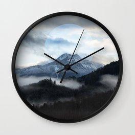 Moon Mountain Wall Clock