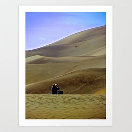 Alone on the Sand Dunes. Art Print