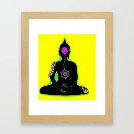 Morphing green Framed Art Print