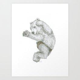 Ours en culotte Art Print