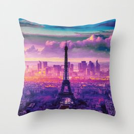 Beautiful Paris Throw Pillow