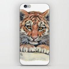 Cute Tiger Cub 903 iPhone & iPod Skin