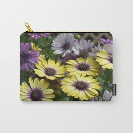 Yellow and Purple African Daisies Carry-All Pouch