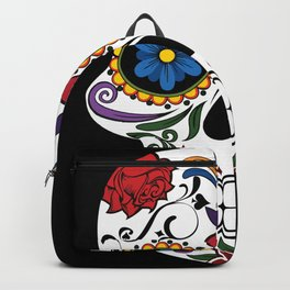 Colorful Sugar Skull Backpack