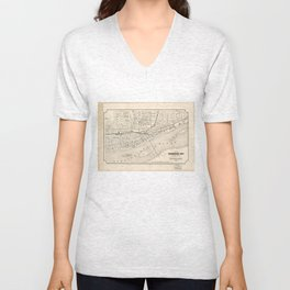 Vintage Map of Harrisburg PA (1877) Unisex V-Neck