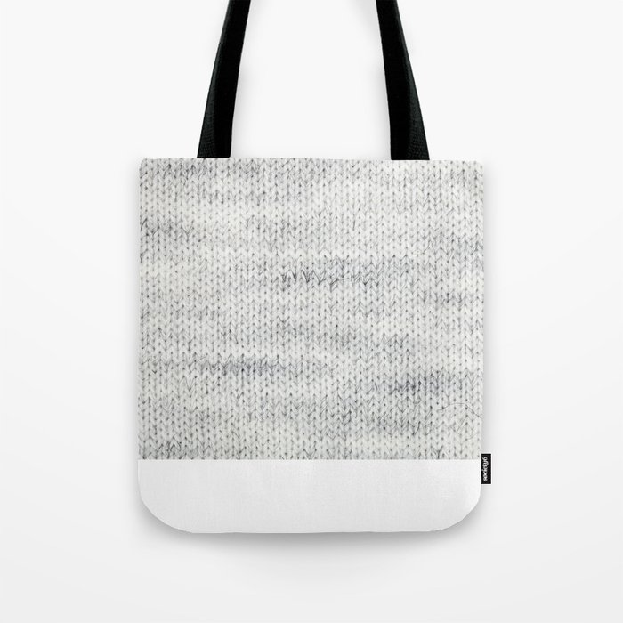 Gray Wool Tote Bag By Goril