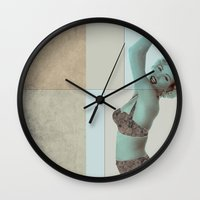 marilyn Wall Clocks featuring marilyn  by Rosa Picnic