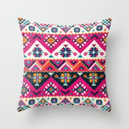 N59 - Anthropologie Oriental Traditional Pink Moroccan Style Artwork. Throw Pillow