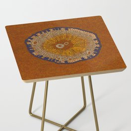 Growing - ginkgo - plant cell embroidery Side Table
