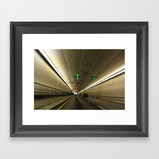 The Tunnel Framed Art Print