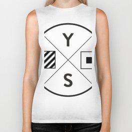 YS Logo - Black Outline Biker Tank