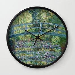 Claude Monet - Water Lily pond, Green Harmony Wall Clock