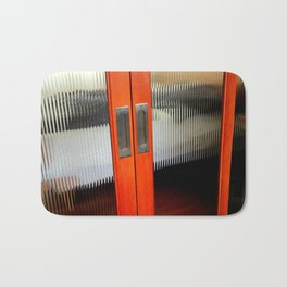 Ribbed Glass Doors - A Half Made Bed Bath Mat