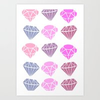 diamonds Art Prints featuring Diamonds by Jenny Viljaniemi