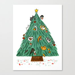 A messy Holiday Canvas Print