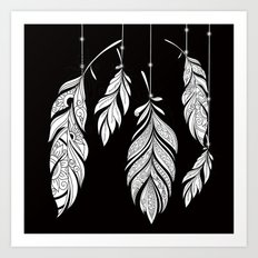 Feather Strings Art Print