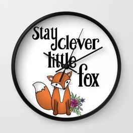 Clever Fox Wall Clock