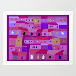 Ecatepec de Noche Art Print